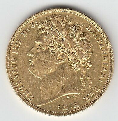 ROYAL MINT 1821 KING GEORGE IV FULL GOLD SOVEREIGN COIN - Great Britain COA