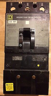 USED Square D KA36225MT I-Line Circuit Breaker 225 Amps 600VAC