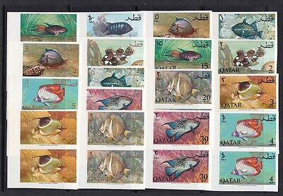 1965 QATAR, Michel n° 72B/88B PAIR IMPERFORATED-PAAR UNGEZAHNT  MNH/**  RARI