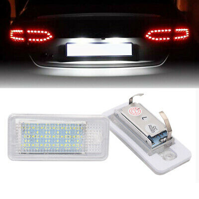 For Audi A3 S3 A4 S4 B6 A6 C6 Q7 A8 Canbus No Error Number License Plate Lights