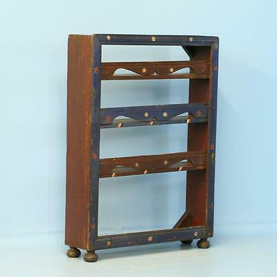 Antique Original Blue Painted Plate Rack/Shelf, Romania circa 1890