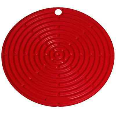 "Le Creuset Silicone 8"" Cool Tool Red Pot Holder Jar Griper Surface Protector"