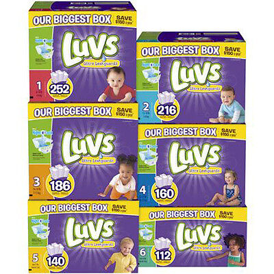 LUVS Ultra Leakguards Diapers Size 1, 2, 3. 4. 5, 6 CHEAP!!! NO TAX