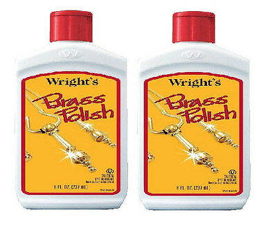 Wright's Brass Polish 8 fl oz Pack Of 2