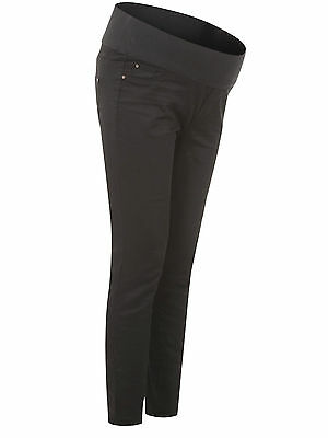 New Look (ex) Maternity Black Under Bump Jeggings Jeans Size 16 18 (8)