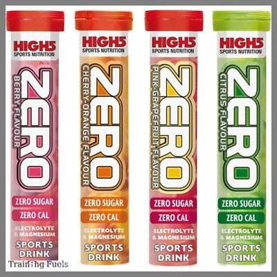 High5 Zero tubes 4 or 8 x 20 tablets Electrolyte  Hydration Drink