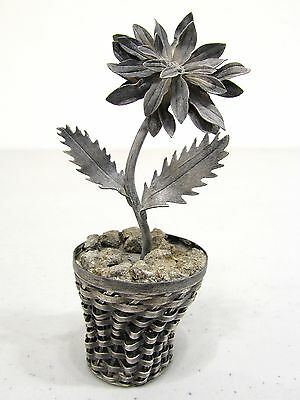 Sterling Silver Miniature Potted Flower Plant
