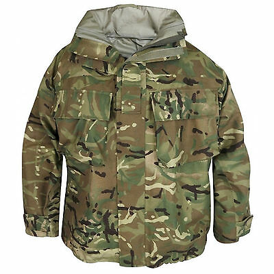 British Army Mtp Goretex Jacket Hooded Waterproof Coat Mvp Fishing Camo
