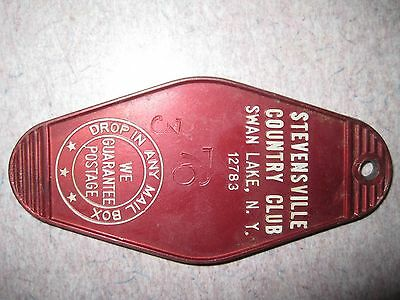 Vintage the stevensville country club  Hotel Room Key tag fob only swan lake ny