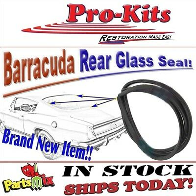 Mopar 68 69 Barracuda Cuda Fastback Back Rear Window Weatherstrip Gasket Seal