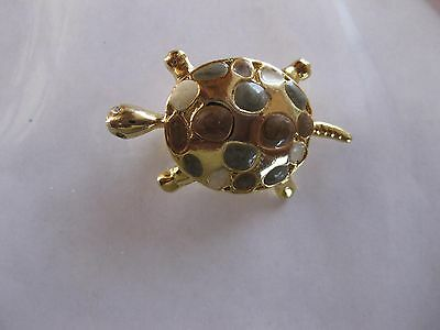 Turtle Brooch  Gold Tone Brooch New