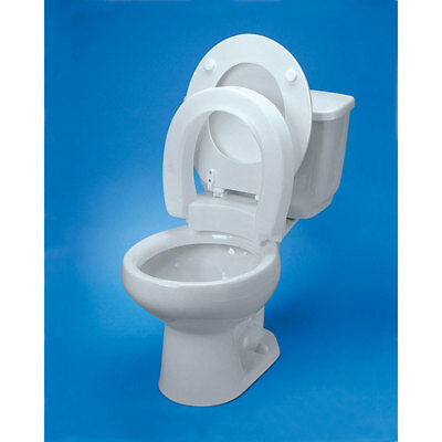 Maddak Inc Tall-ette Hinged Elevated Toilet Seat Elongated 350lb Capacity *NEW*