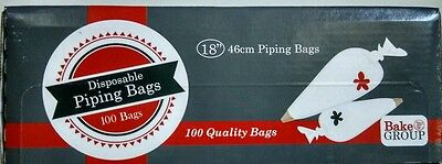 "Disposable Piping Bags 18"" (46cm) - 100 piping bags"