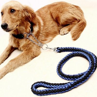 Quality Collar Pet Chain Woven Genuine Leashes Large Dogs Traction Dog Rope