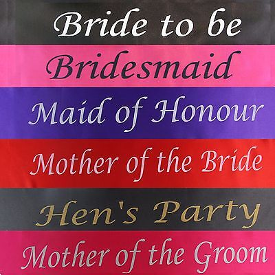 Bulk Bargain 6 Piece Combo Pack: Hens Night Bridal Sash Sashes Bachelorette