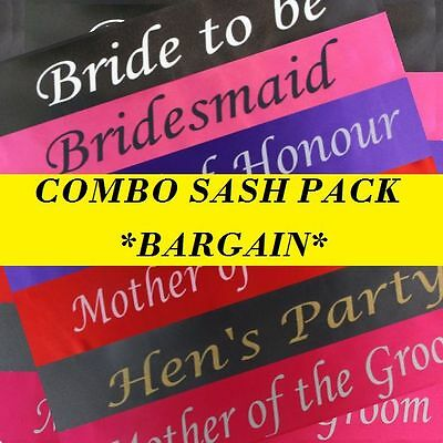 Bulk Bargain Combo Pack: Hens Party Night Bridal Sash Sashes Bachelorette