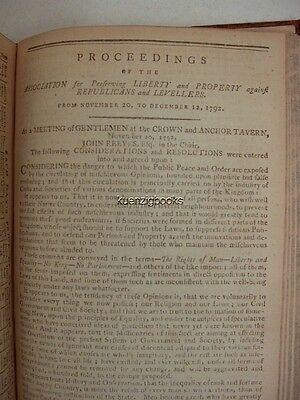 1792 REEVES Preserving Liberty Property against Republicans Gentleman's Magazine