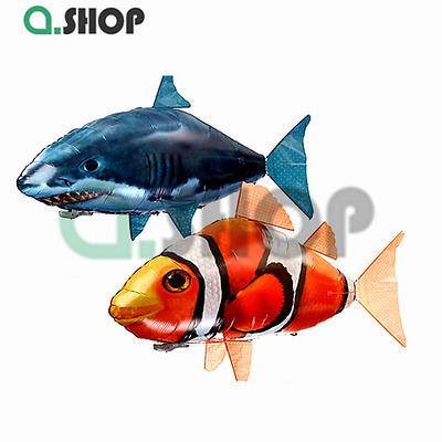 Remote Control RC Inflatable Balloon Air Swimmer Flying Nemo Shark Blimp aShop