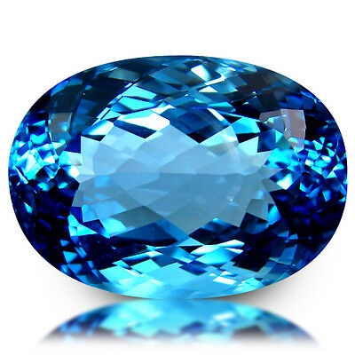 33.08Ct Huge! Superior Clean Quality Gemstone Natural Baby Swiss Blue Topaz