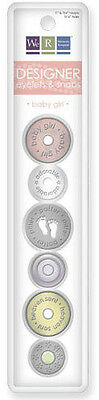 NEW We R Memory Keepers - Designer Eyelets and Snaps - Baby Girl