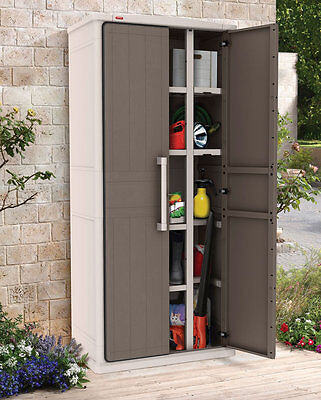 Keter Optima Wonder Outdoor Storage Cabinet Cupboard 1.8M H