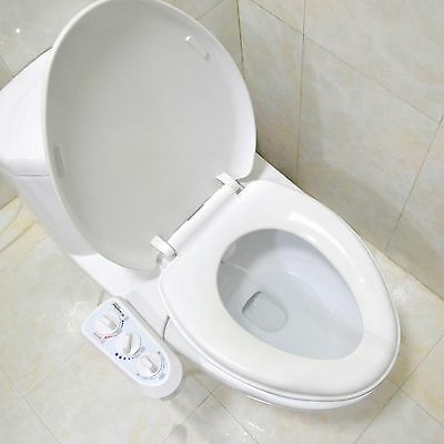 Fresh Hot Cold Water Non-Electric Adjustable Angle Bidet Toilet Seat Attachment