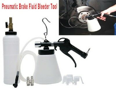 Pneumatic Brake Fluid Bleeder Tool with 4 Master Cylinder Adapters 90 to 120 psi