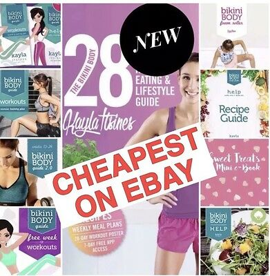 *NEW 2017 Kayla Itsines 28 Day Healthy Eating Guide+ Bikini Body Guides +Extras*