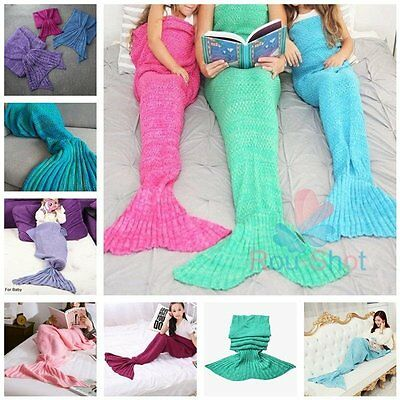 180×90cm Knitted Mermaid Blanket Tail for Adults Super Soft and Fashion【AU】