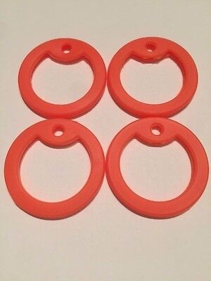 4 Military Army Dog Tag Silencers ORANGE Rubber Silencer Silicone