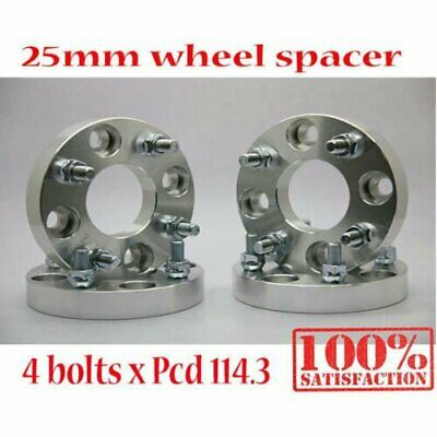 (4) 4 Studs PCD 4x114.3 to 4x114.3 Alloy T6061 Wheel Spacers 25mm Spacer M12x1.5