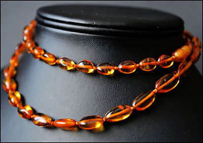 """Real  BALTIC  AMBER Necklace 63cm, 24.8"""""""