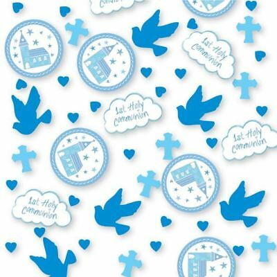 Holy 1st Communion Blue Confetti Christian Celebration Party Table Sprinkles