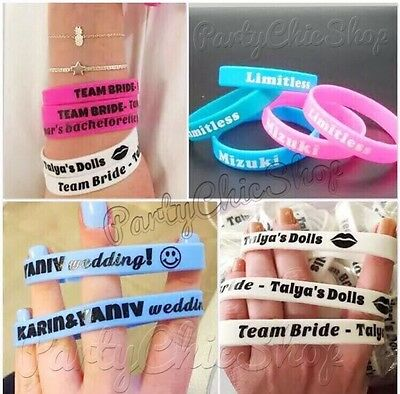 Personalized Custom Silicone imprint Logo Wristbands Promotinal Gifts & Events