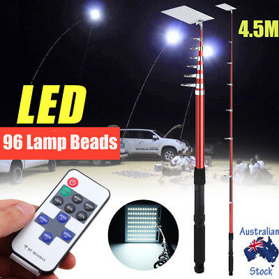 Telescopic Rod Car Repair LED Lantern Camping Light Photography Night Lamp BBQ