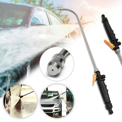 23'' 59cm High Pressure Spray Lance Washer Nozzle Garden Water Gun Quick Connect