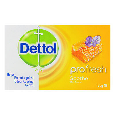 NEW Dettol Soap Profresh Soothe 100g Against Odour Causing Germs 3 Pack