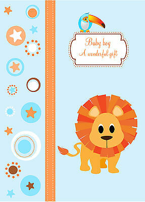 HARDCOVER baby boy memory book up to 4 years of age (cute animals and designs)