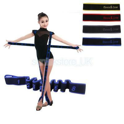 Kids Children 8 Loops Yoga Belt Latin Dance Training Resistance Band Strap