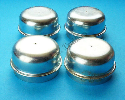 4 x 50mm Metal Grease Dust Hub Caps for Trailer Wheels    #SF