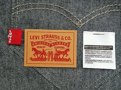 2pcs Levi's Levis Levi Strauss Paper Leather Patch Label + FREE Red Tab + Ship