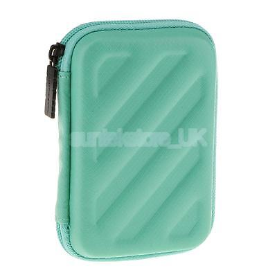 """Carry Case Cover Pouch for 2.5"""" USB External Hard Disk Drive Earphone Green"""
