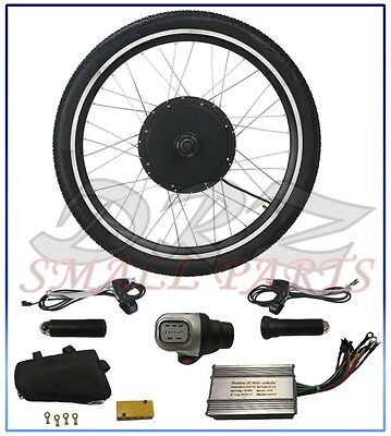 "Electric Bicycle Motor Conversion Kit 26"" Ebike Cycling Rear Wheel Hub 48V 1000W"