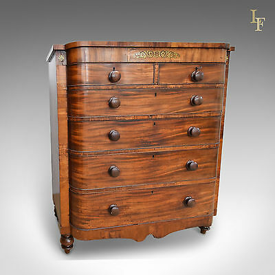 Antique Chest Of Drawers, Large, Victorian, Scottish, Mahogany, C.1880
