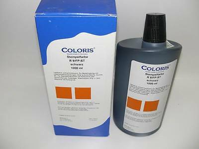 Coloris Stempelfarbe R9/FP-ST, schwarz 1000ml