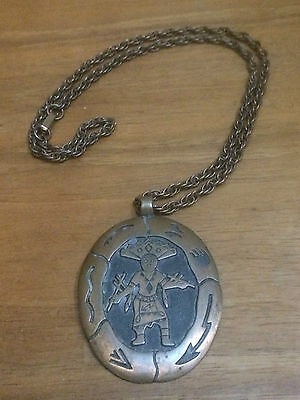 """Bell Trading Co. """"Solid Copper"""" Native American Necklace Pendant"""