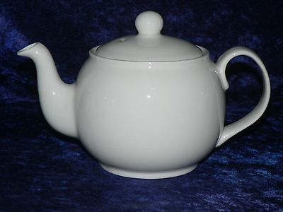 4 cup teapot  bone china round shaped white 4 cup teapot