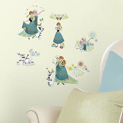 RoomMates RMK3015SCS Disney Frozen Fever Peel and Stick Wall Decals, 19 Count