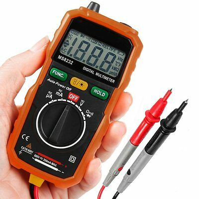 EarMe MS8232 Auto-Ranging Digital Multimeter, Volt Amp Ohm Meter