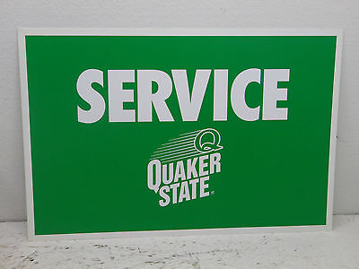 Quaker State Oil  (service) Sign - Metal - 1 Sided 24x16